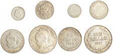 Liberia 10 Cents 1960 - 1 Dollar 1961 - 4 Stück - Silber - ss