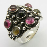 Solid Sterling Silver Natural Tourmaline Ring Sz 5.75 Wholesale Jewelry