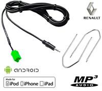 Outils + Cable MP3 AUX Renault MEGANE 2 LAGUNA KANGOO MODUS CLIO 3 TWINGO CLIO 2