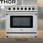 "36"" Thor Kitchen 6 Burner Gas Range Stove Oven 6.0 Cu.ft Stainless Steel Baking photo"