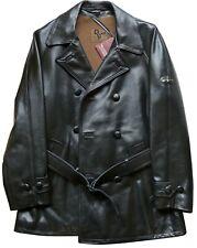 Lewis Leathers Aviakit Mens Leather Jacket Long Biker SS Vintage British Green L