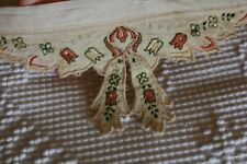 Antique Embroidered Victorian Era Linen Collar Clothing Trim #2