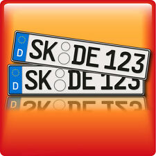 1 Paar  KFZ Kennzeichen • Autokennzeichen • Autoschilder • Kennzeichen