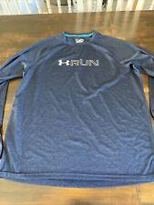 Under Armour Heat Gear Fitted Run Running Athletic Jersey T Shirt Sz Mens Xl