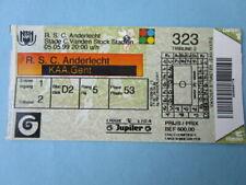 TOEGANGSKAART ANDERLECHT-KAA GENT  5-5-1999 (ZIE FOTO)