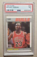 1987 Fleer Michael Jordan PSA 7 Chicago Bulls #59