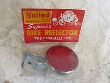 UNITED RED REAR  REFLECTOR CRUISER VINTAGE SCHWINN PAPER BOY NOS VINTAGE BICYCLE