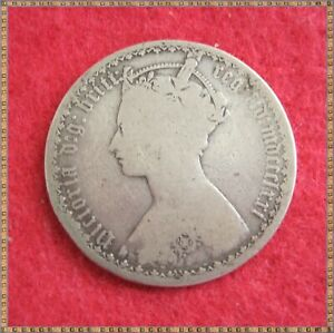 1871 VICTORIA SILVER GOTHIC FLORIN TWO SHILLINGS (2/-) COIN. MDCCCLXXI.