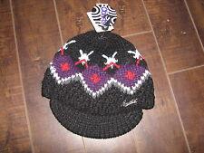 Barts Kids Black Mia Visor Kids Knit Hat - Size 1-3 Years - NWT $19.99 EU
