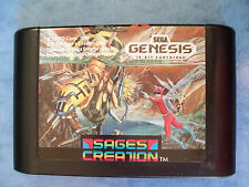 RARE INSECTOR X SEGA GENESIS 1990 TESTED ACTUAL PICTURES *REAL* GOOD