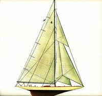 1930 Americas Cup Lithograph Enterprise Keel Centerboard Sloop Melbourne Smith
