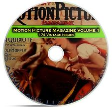 Motion Picture Movie Fan Magazine, Vol 1, 174 Issues, 1911 - 1925, DVD CD C11