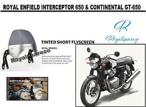 Royal Enfield Interceptor 650 & Continental GT-650 Tinted Short Flyscreen