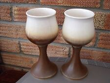 Iden Pottery Rye Sussex Pair of Goblets/Chalices