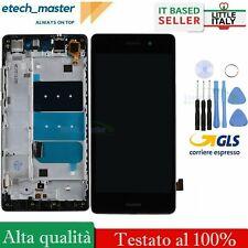 Para Huawei P8 Lite ALE-L21 Negro LCD Pantalla Táctil digitalizador Frame Reemplazo