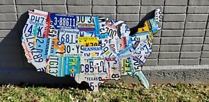 License Plate Map - USA Authentic US License Plates