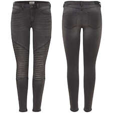 ONLY Damen Jeans Leggings onlROYAL REG SK BIKER ANKLE BJ312B Jeggings Hose grau