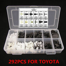 292 x Car Interior Door Fenders Hoods Push Retainer Pin Rivet Trim Clip Fastener