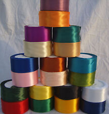 20 ROLLS OF 38 MM SATIN RIBBON, 20 COLORS 340 YARDS , RRP £60, Special Offer