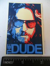 "3.25"" Funny Big Lebowski THE DUDE vinyl bumper STICKER. Car marijuana bong, pipe"