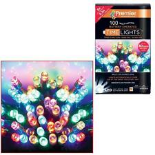 Premier 100 navidades Batería temporizador luces Led interior o - multi color