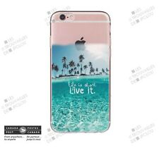 Cover for Apple iPhone 7 Life is short Live it Slim Soft Case Back Shell