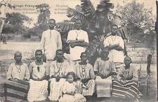 CPA CONGO UN GROUPE DE FRANCAIS DE BRAZZAVILLE (au verso timbre d´origine