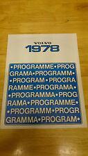 1978 Volvo Range Brochure Inc. 66 Series, 240 Series, 260 Series