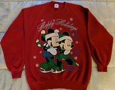Vintage Christmas Sweatshirt Mickey Minnie Mouse Winter Park Colorado Disney