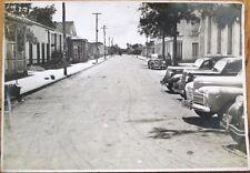 Colon, Matanzas, Cuba 1940 Street-Scene 5x7 Original Photograph, Calle Mesa/Cars