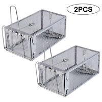 2Pcs Humane Animal Trap Cage Possum Fox Koala Rabbit Bird Cat Catcher Folding