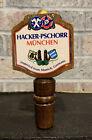Hacker Pschorr Beer Tap Handle Wood German Beer  Munchen German Collectible