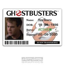 Plastic ID Card (TV & FILM Prop) - Ray Stanz GHOSTBUSTERS Fancy Dress