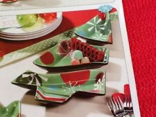 Christmas Tree Plate Serving Dishes Vintage Home Interiors Gifts Gtc