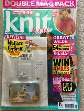 KNIT NOW Double Magazine Pack Knitting Mag 106 Wallace Gromit Stitch Markers NEW