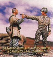 "Jaguar ""Steamboat Willie"" & The Sniper, Normandy 1944 (2) Figures w/Base JA63095"