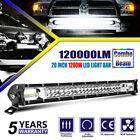 20 INCH SPOT FLOOD COMBO BEAM LED LIGHT BAR 1200W HIGH POWER DRIVING LAMP UTV 22 <br/> 5-Year-Warranty▲ Cree chip▲ RoHS▲ IP68▲ ISO9001▲ CE▲