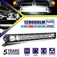 20 INCH SPOT FLOOD COMBO BEAM LED LIGHT BAR 1200W HIGH POWER DRIVING LAMP UTV 22
