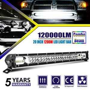 20 INCH SPOT FLOOD COMBO BEAM LED LIGHT BAR 1200W HIGH POWER DRIVING LAMP UTV 22