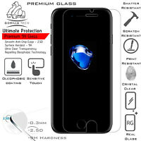 New iPhone 8 Genuine Gorilla Tech Brand Screen Protector Tempered Glass Top Film