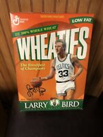 SEALED EMPTY LARRY BIRD WHEATIES COMMEMORATIVE EDITION 90's CERAL BOX