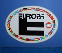 ADESIVO STICKER AUTOCOLLANT GULF ANNI'80 VINTAGE 15X10 cm. AUTO MOTO TUNING RARO
