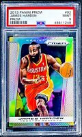 2013 Panini Prizm JAMES HARDEN Silver Prizm *1st Rockets Prizm* PSA 9 Low Pop!