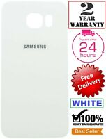 Replacement For WHITE Samsung Galaxy S6 Edge Battery Glass Back Door Cover