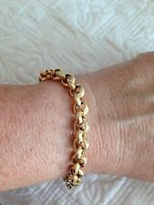 14 KT YELLOW GOLD ROLO BRACELET 7.5 Inches 12 GM🌷