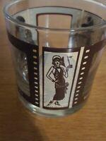 Roaring Twenties Glass Barrymore, Mix, Buster Keaton Cocktail Rocks Glass