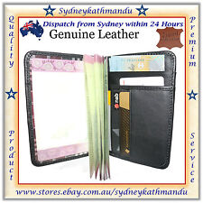 Genuine Real leather Passport Cover Wallet Holder Travel Wallet Case