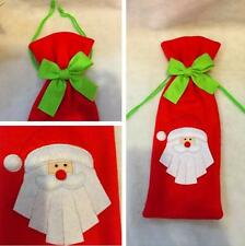 Christmas Decoration Red Santa Tree Wine Bottle Cover Bags Dinner Party Gift NEW