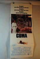 COMA 1978 ORIG THEATRICAL 14X36 MOVIE POSTER GENEVIEVE BUJOLD, MICHAEL DOUGLAS