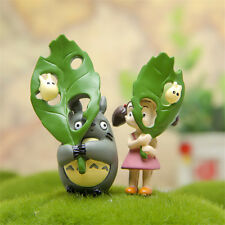 2pcs Studio Ghibli My Neighbor Totoro Mei Figures Toy Display Micro Landscape